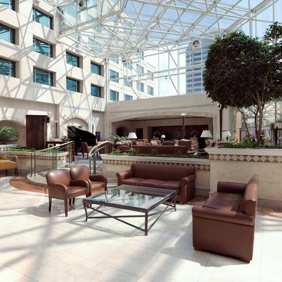 Courtyard Modern Lobby property plaza condominium living room home outdoor structure