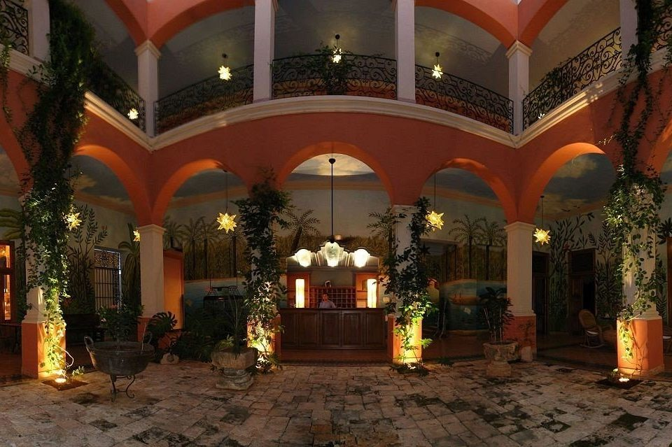 building Lobby palace hacienda mansion Resort Courtyard arch