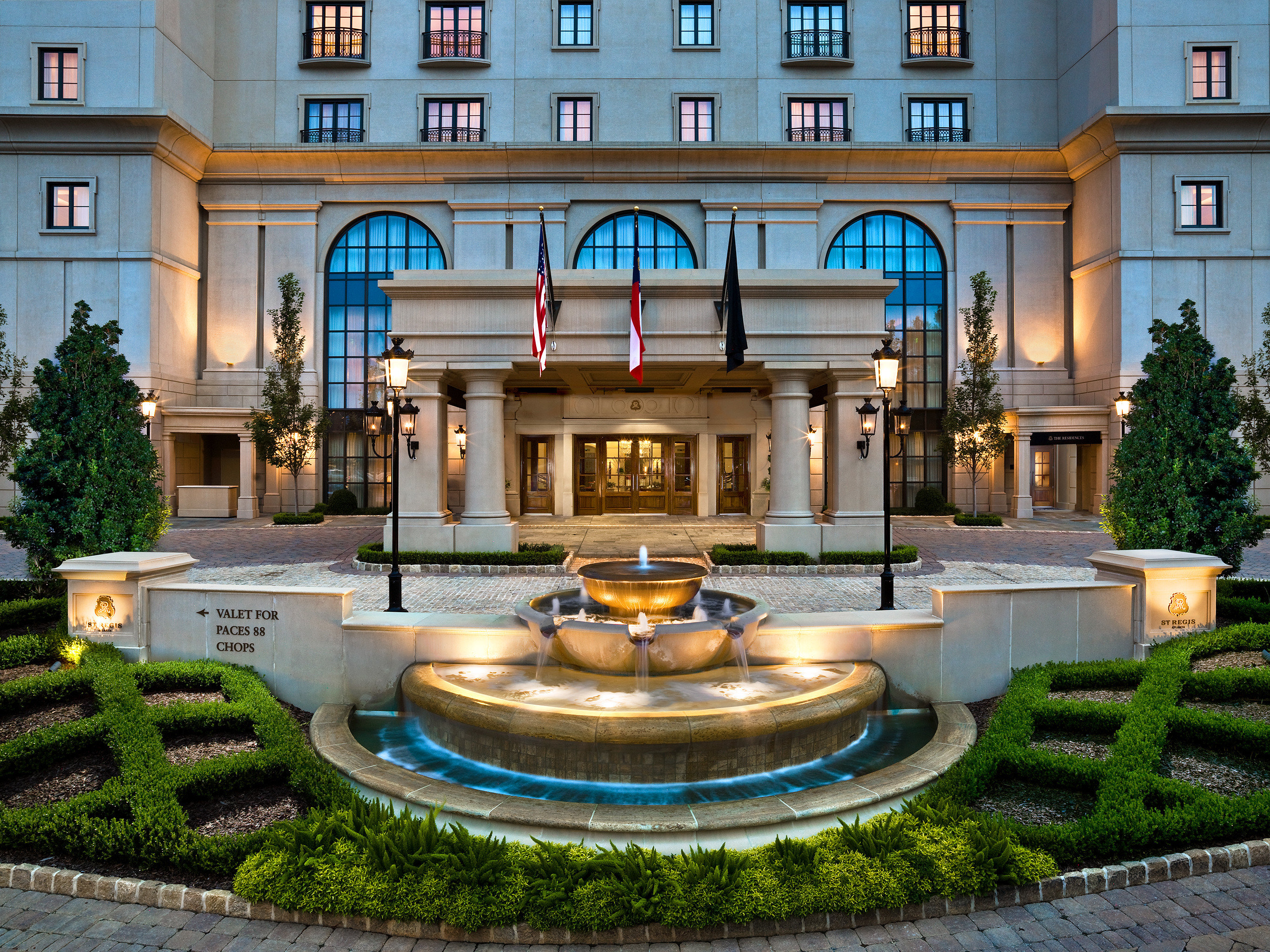 building Courtyard fountain mansion plaza water feature home palace Lobby Resort stone