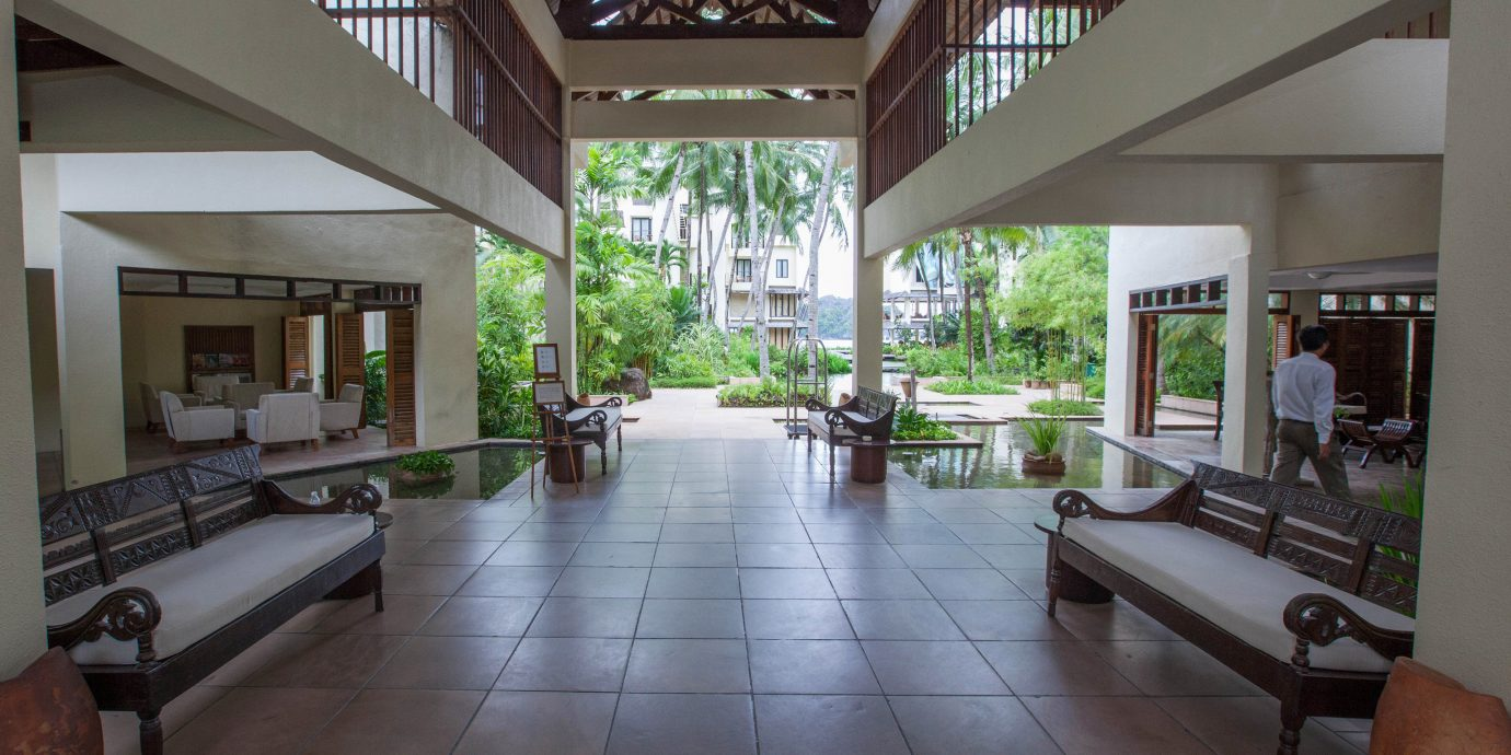 property building condominium house Resort home Villa Lobby Courtyard living room outdoor structure mansion