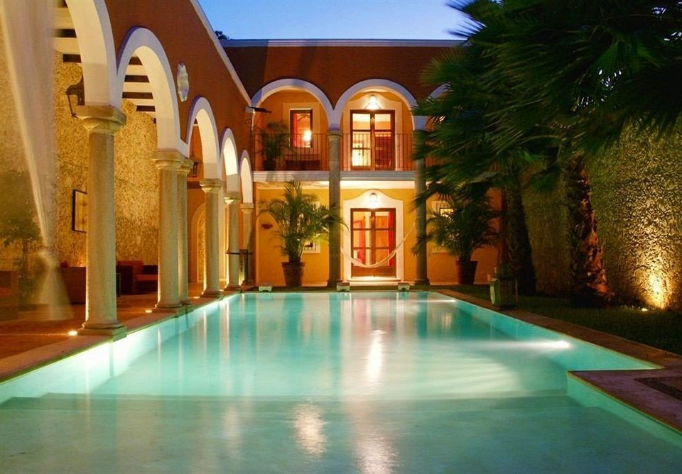 swimming pool property building leisure Resort mansion hacienda Villa home Lobby Courtyard palace