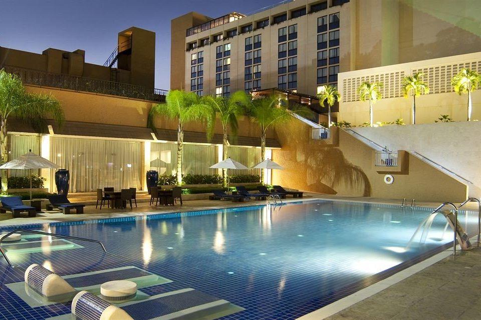 Modern Pool condominium swimming pool property leisure reflecting pool home Resort plaza Villa Courtyard