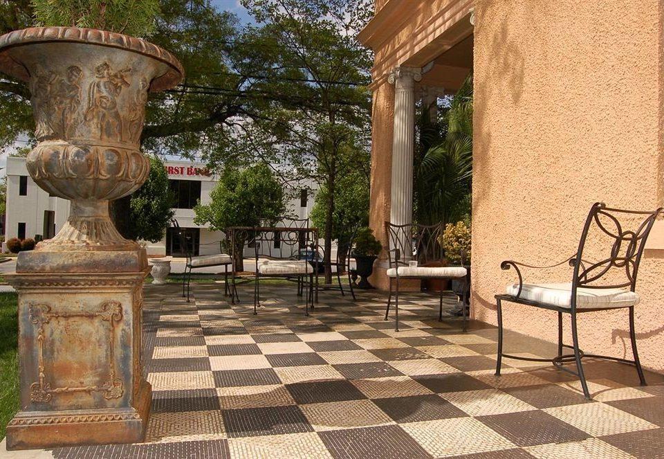 building chair Courtyard outdoor structure Patio hacienda backyard Villa stone