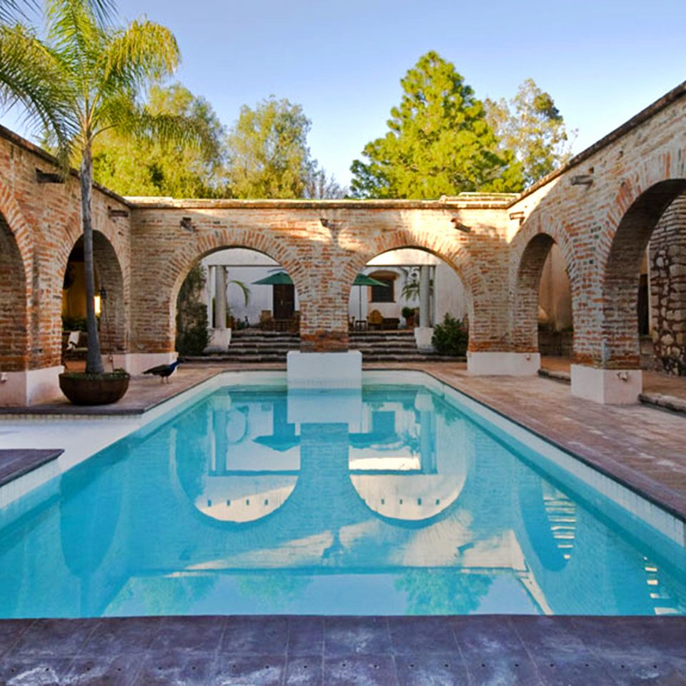 Pool Romantic Rustic building sky swimming pool leisure property arch hacienda Courtyard mansion Villa thermae backyard stone