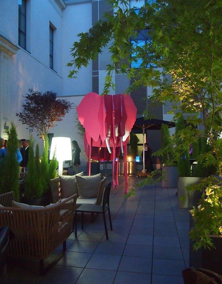 tree flower plant lighting backyard restaurant Resort Courtyard