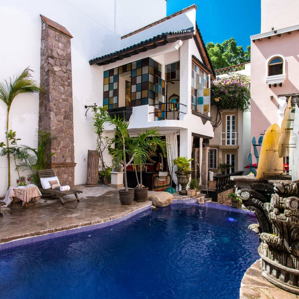 building swimming pool property leisure Resort Villa condominium Courtyard mansion backyard home hacienda