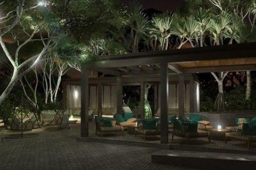 tree property Resort landscape lighting mansion home Villa hacienda lighting backyard Courtyard eco hotel