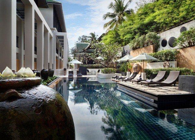 building swimming pool property Resort backyard home Villa Courtyard mansion condominium water feature waterway