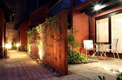 ground property Courtyard home hacienda lighting backyard cottage Villa Resort outdoor structure landscape lighting way sidewalk
