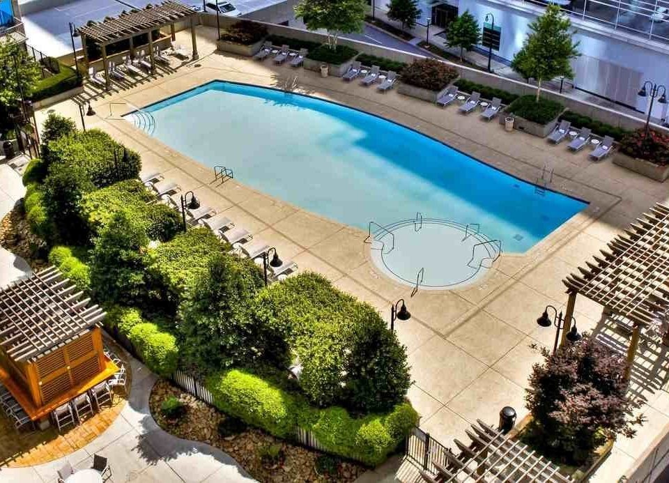 swimming pool leisure property condominium Resort mansion residential area plaza Villa backyard Courtyard landscape architect broccoli