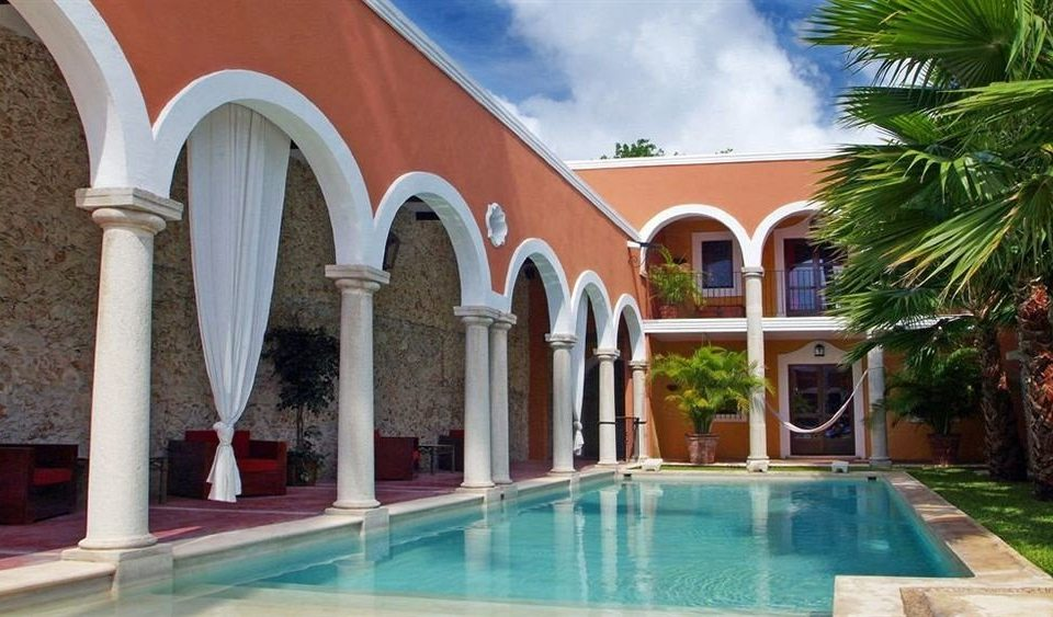 property building leisure swimming pool Villa hacienda home Resort mansion Courtyard colonnade