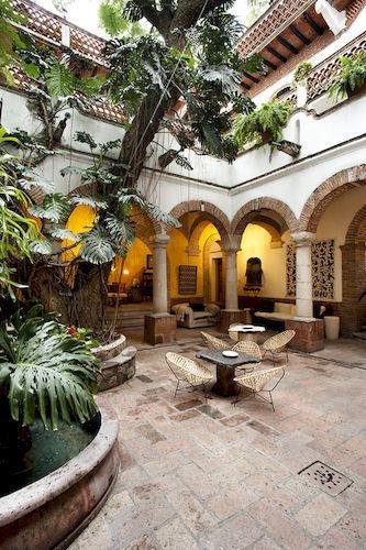 property building Courtyard home mansion hacienda stone Villa Resort plant temple palace