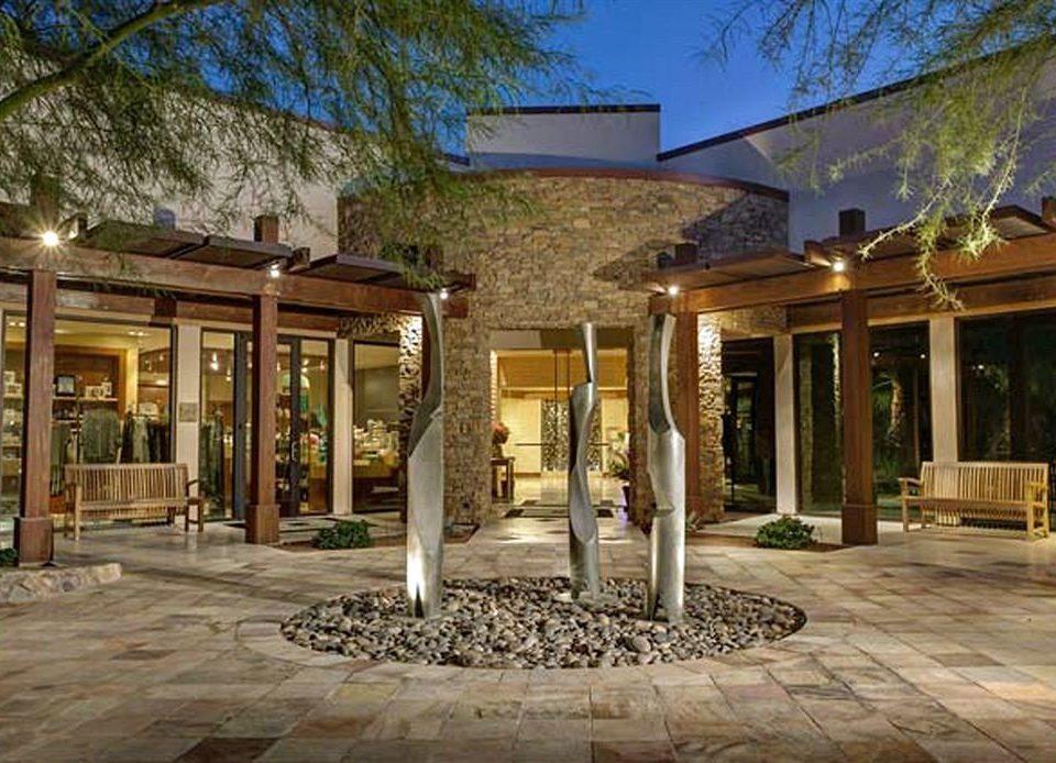 tree ground building property home Courtyard porch Resort mansion outdoor structure Villa hacienda stone