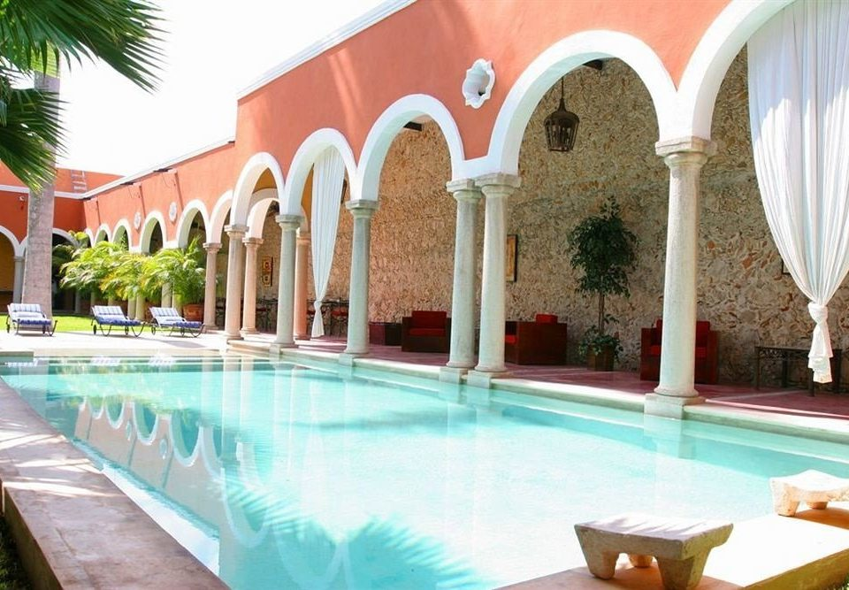 property leisure swimming pool Resort hacienda Villa palace Courtyard colonnade
