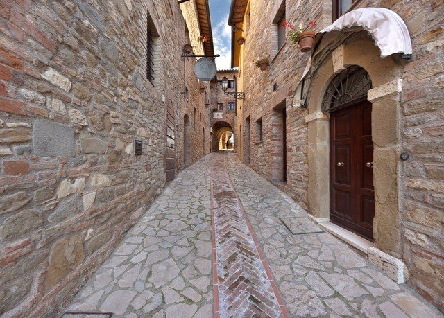 building brick stone Town alley road street ancient history Village way infrastructure middle ages Courtyard monastery arch old walkway