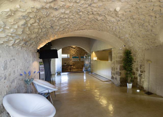 building property hacienda Courtyard arch Villa stone mansion
