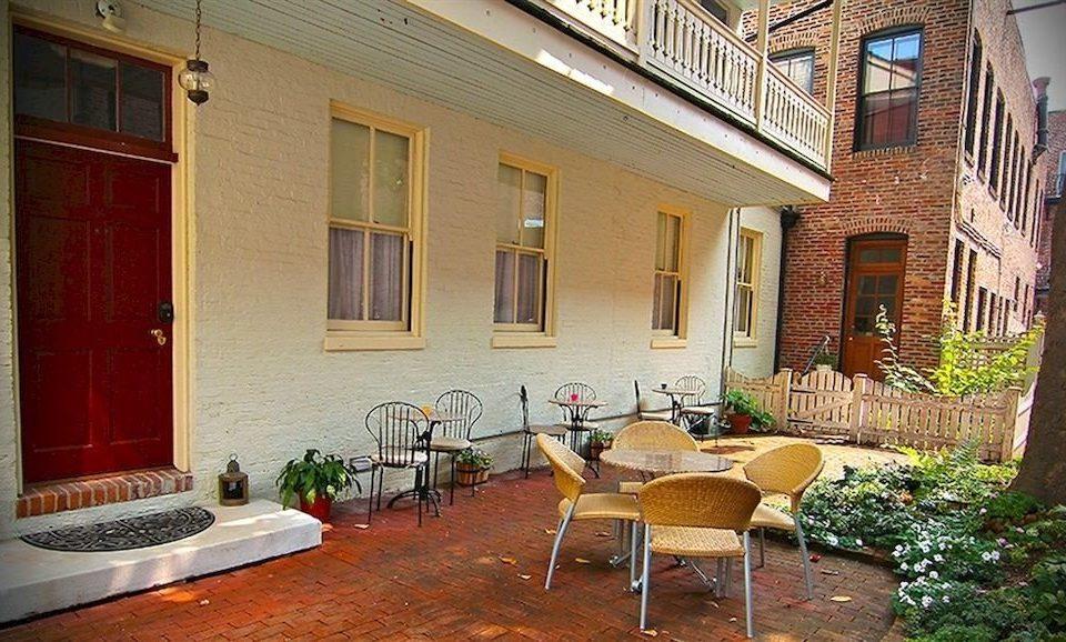 property house building home Courtyard cottage Villa condominium hacienda backyard mansion porch