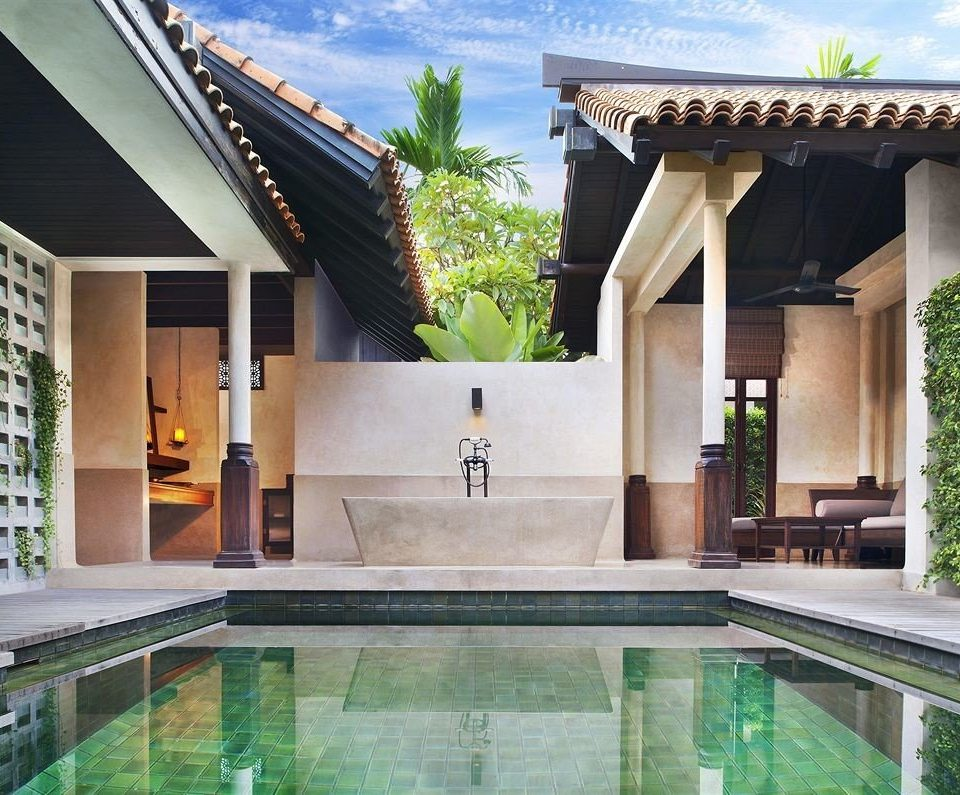 building swimming pool property Villa condominium home mansion Courtyard backyard
