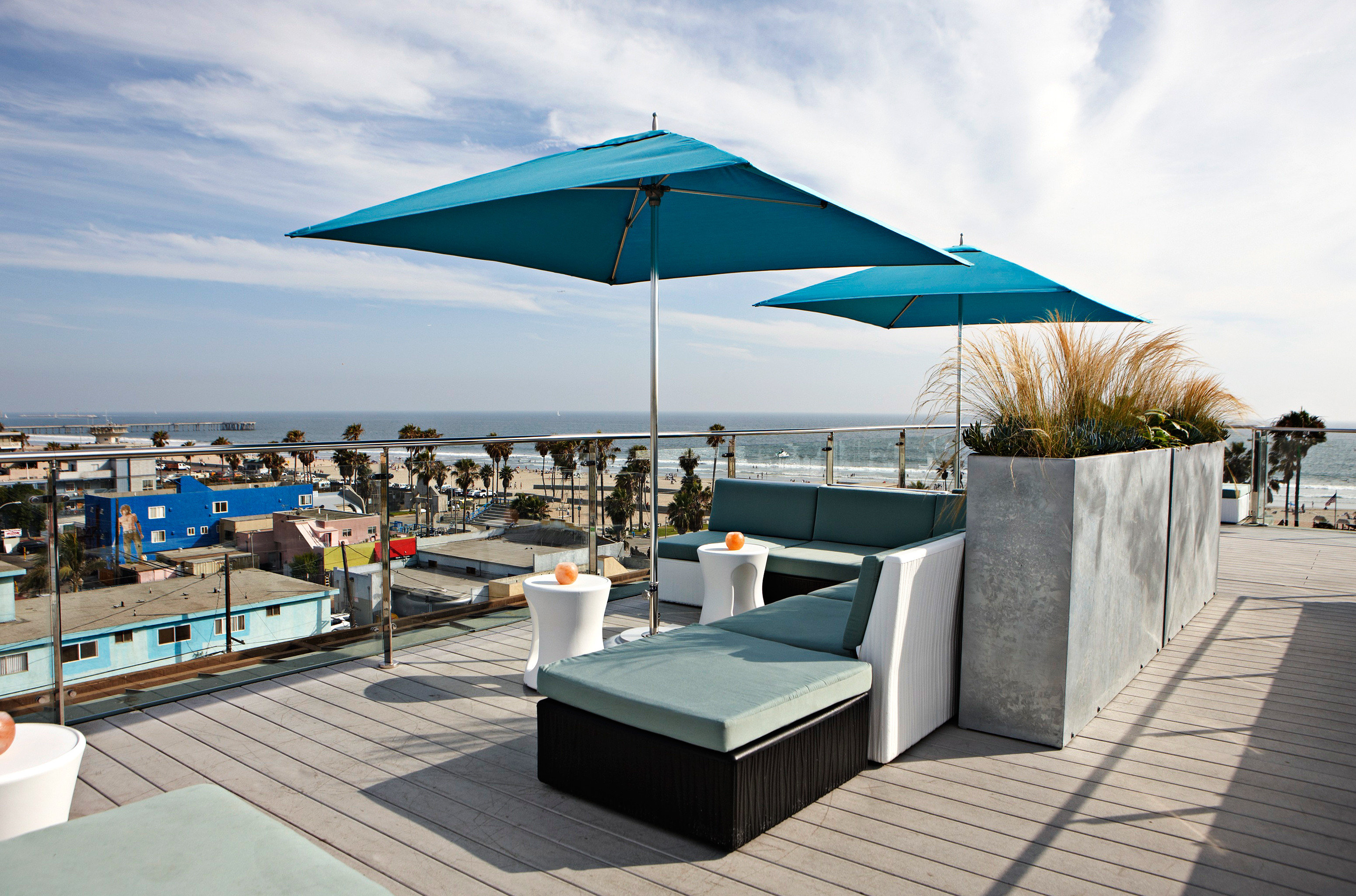 Beach Beachfront Deck Hip Hotels Living Lounge Modern Patio Terrace sky outdoor leisure tent canopy dock Resort vehicle swimming pool Villa marina outdoor structure accessory day