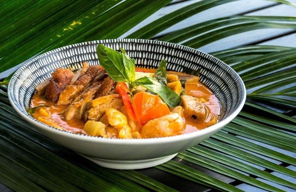 food plate cuisine curry vegetable fish thai food vegetarian food stew meat