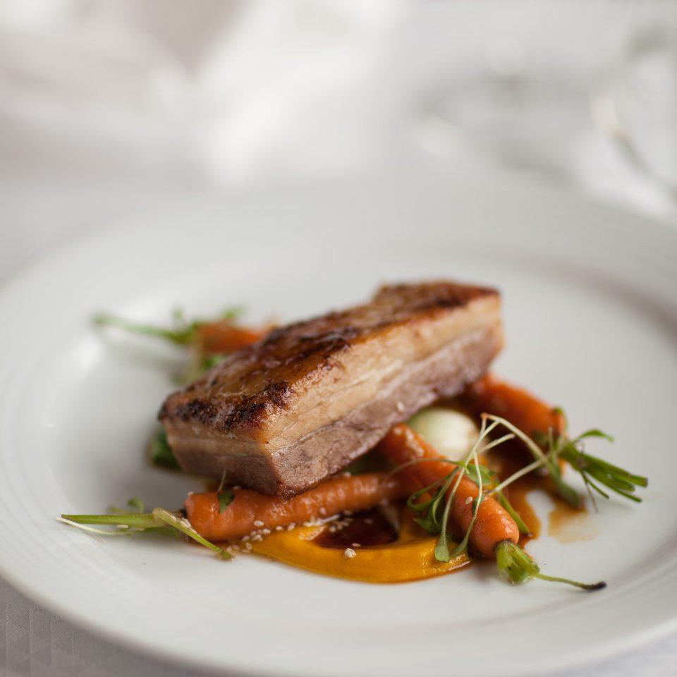 plate food white meat fish restaurant steak sense cuisine served eaten piece de resistance