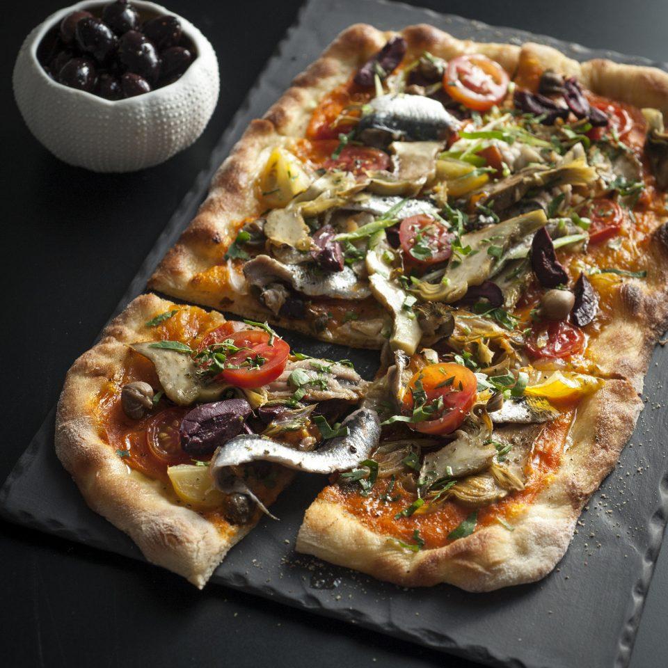 pizza food pizza cheese cuisine italian food slice european food tarte flambée sliced toppings fresh