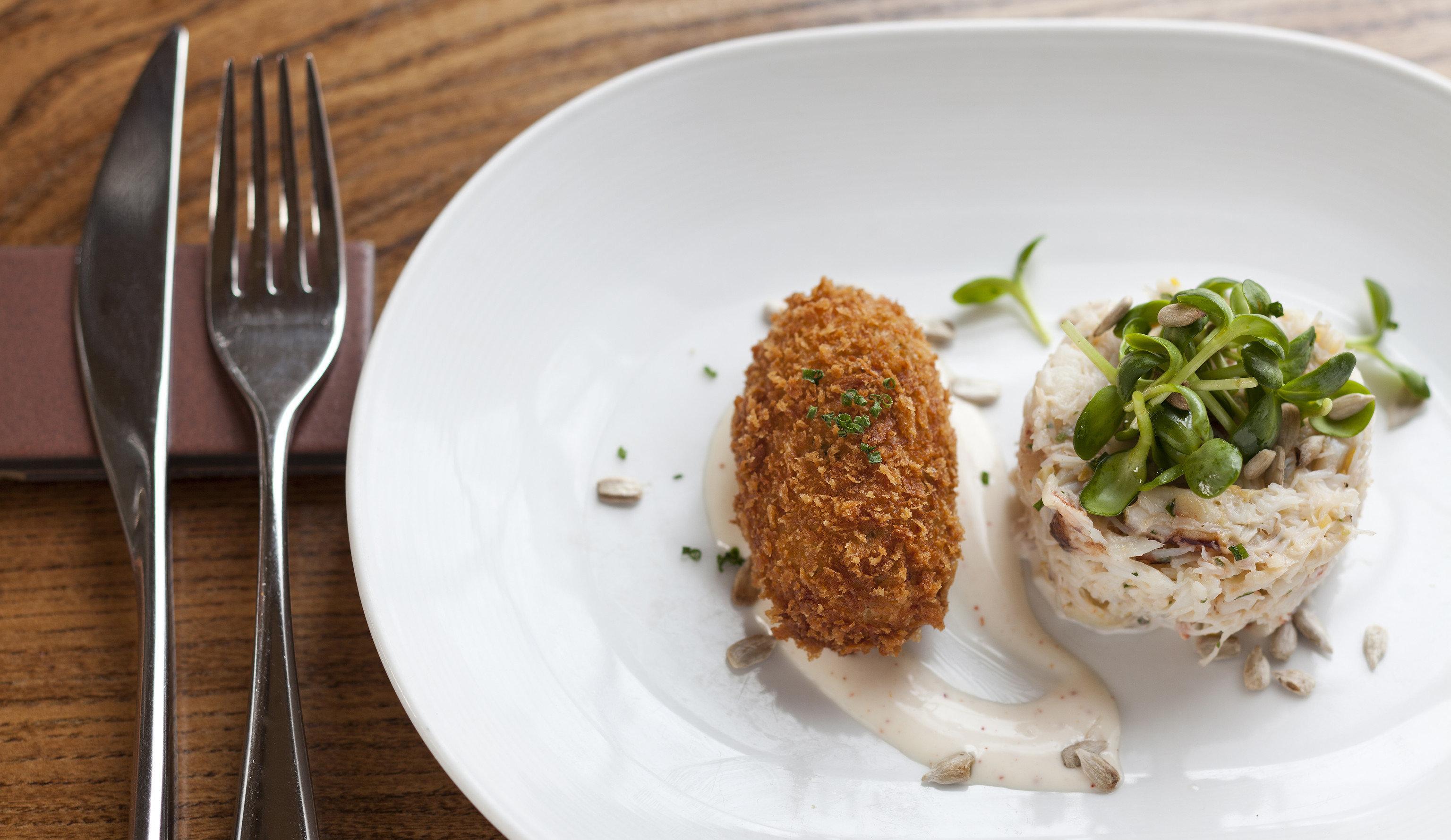 plate food white fork fish cuisine meat vegetable piece de resistance