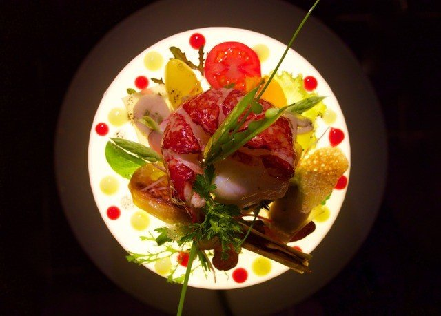 food plate cuisine salad meat hors d oeuvre
