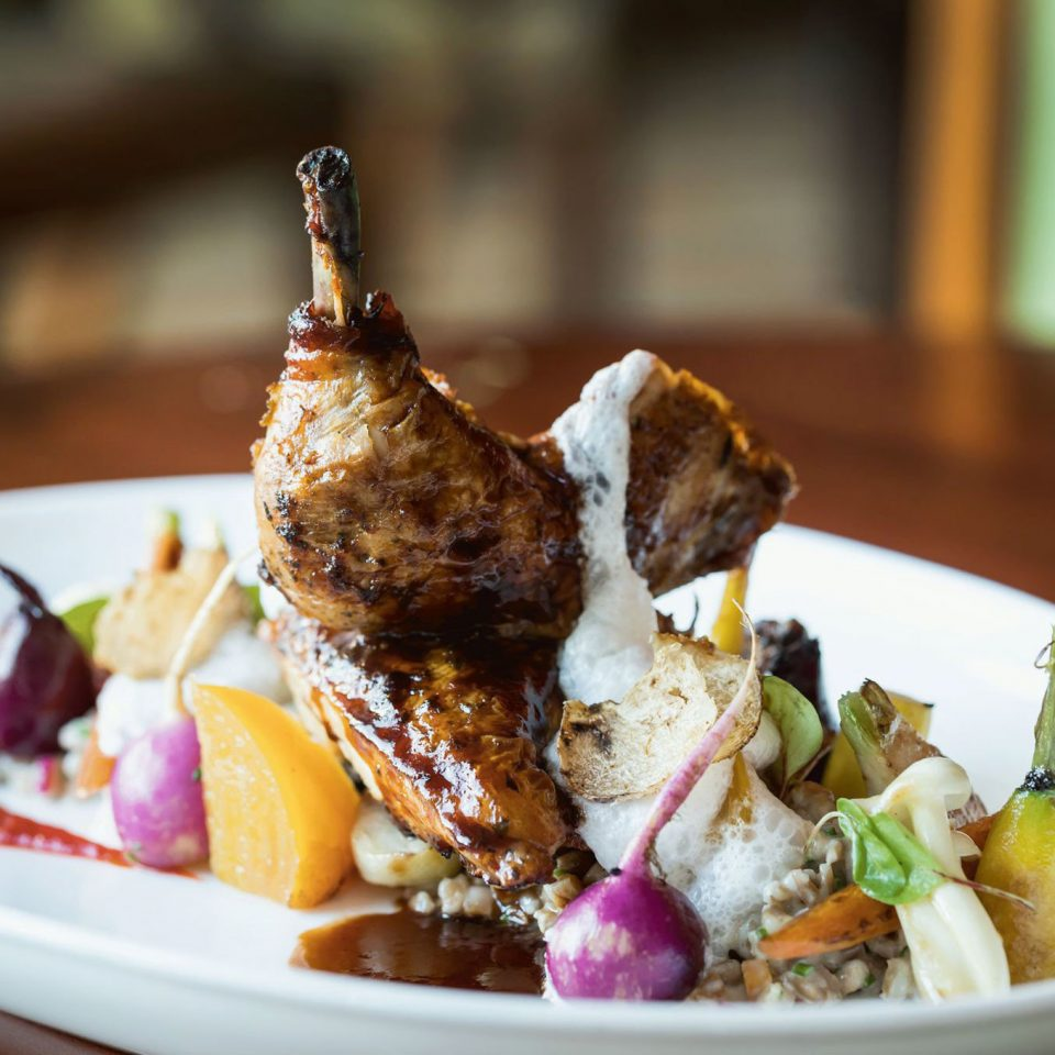 plate food meat cuisine restaurant sense piece de resistance