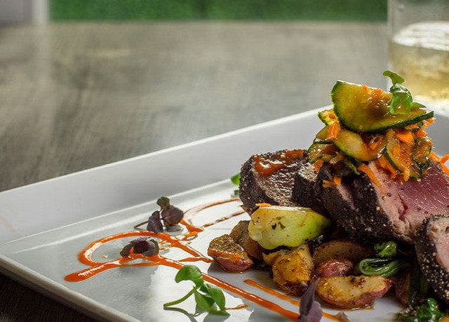 food plate meat restaurant cuisine steak vegetable