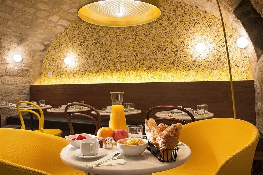 restaurant yellow lighting cuisine