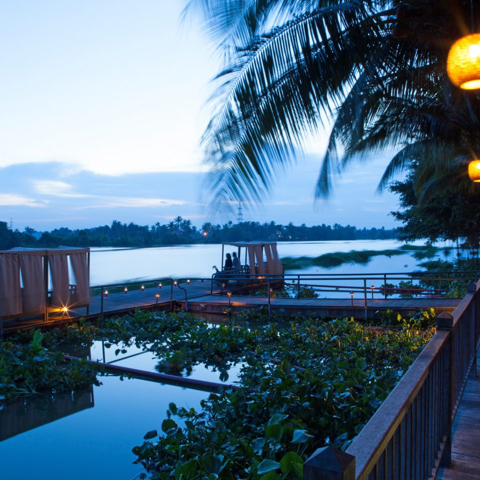 Cultural Deck Eco Jungle Nature River Scenic views Waterfront tree sky Resort night evening dusk sunlight Sea cityscape