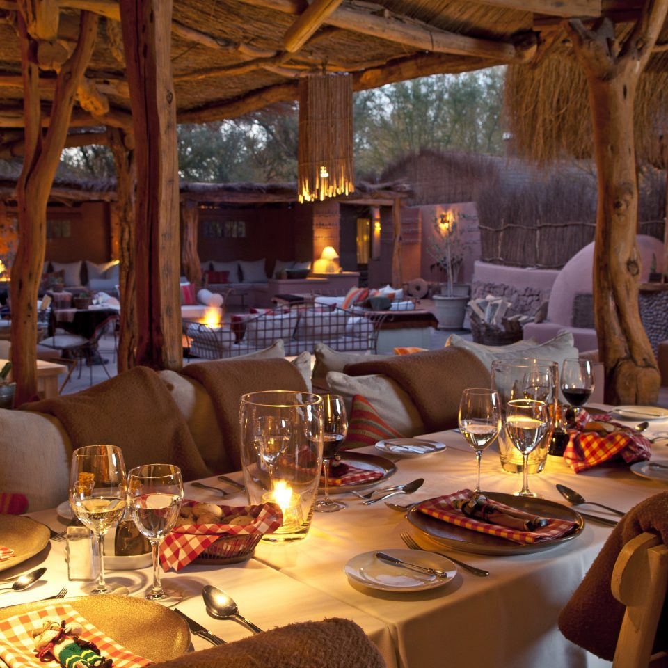 Cultural Desert Dining Drink Eat Firepit Romance Wellness plate restaurant dining table