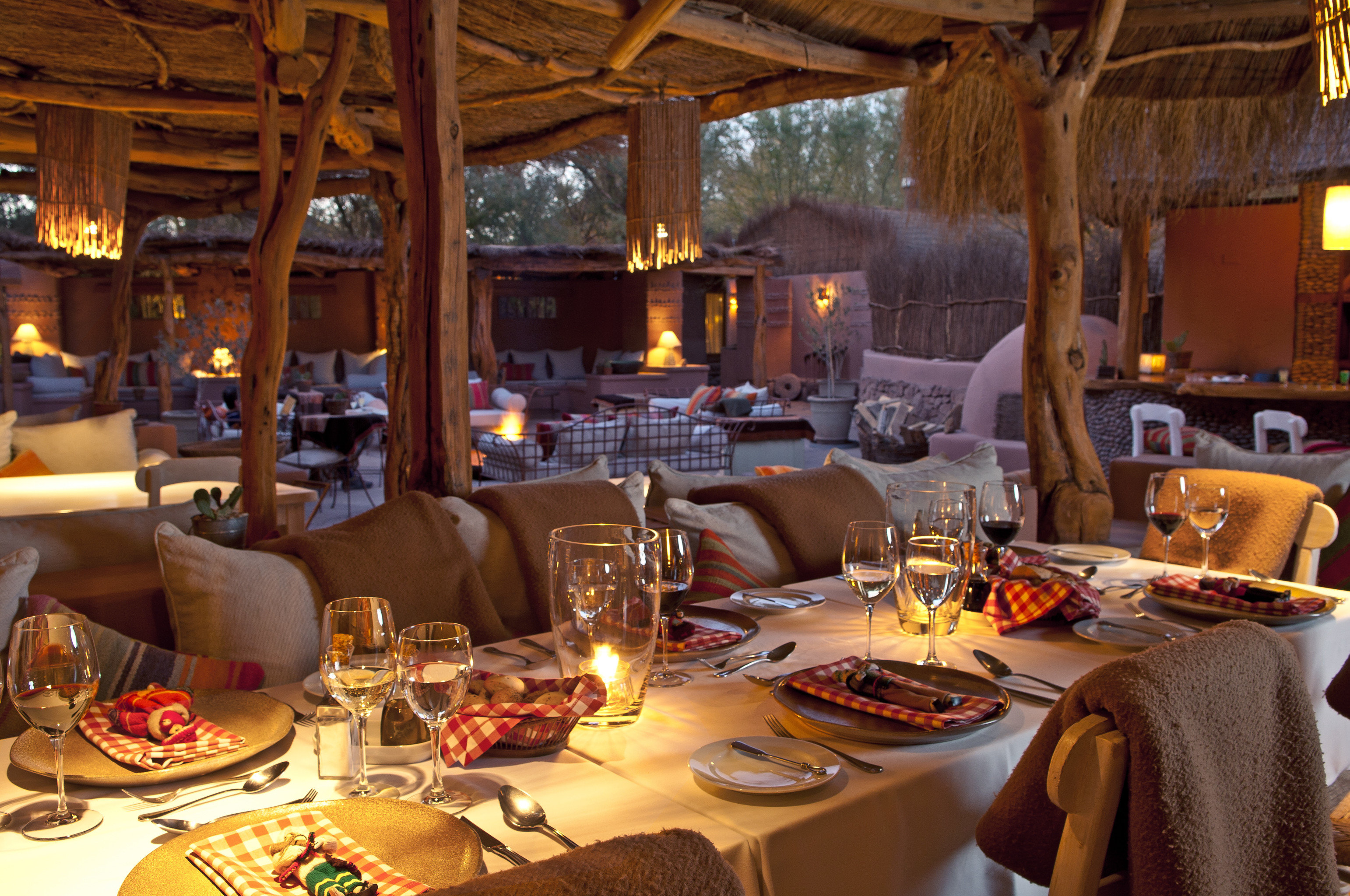 Cultural Desert Dining Drink Eat Firepit Romance Wellness plate restaurant dining table