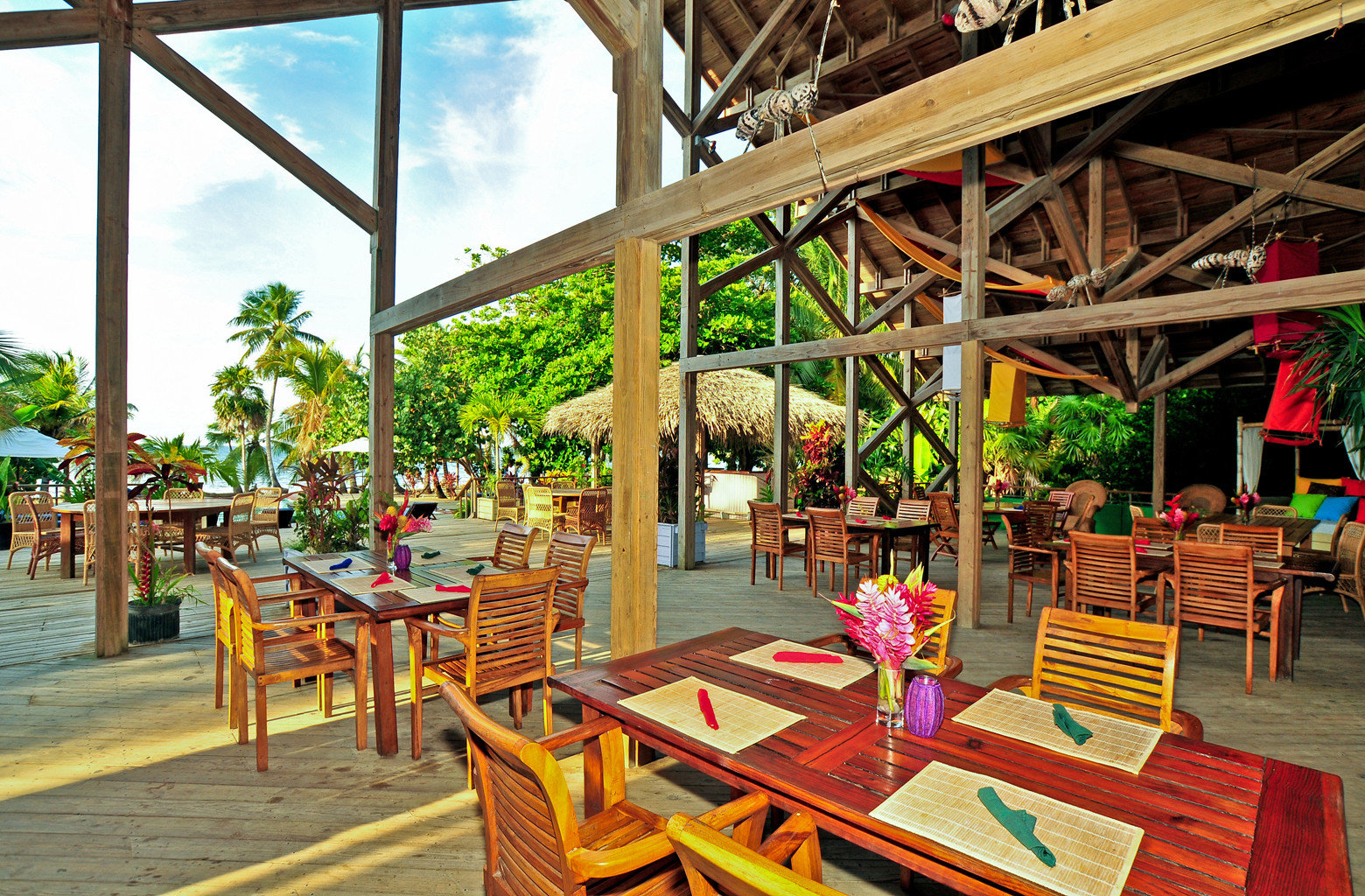 Cultural Dining Drink Eat Eco Island Jungle Outdoors building leisure Resort restaurant set