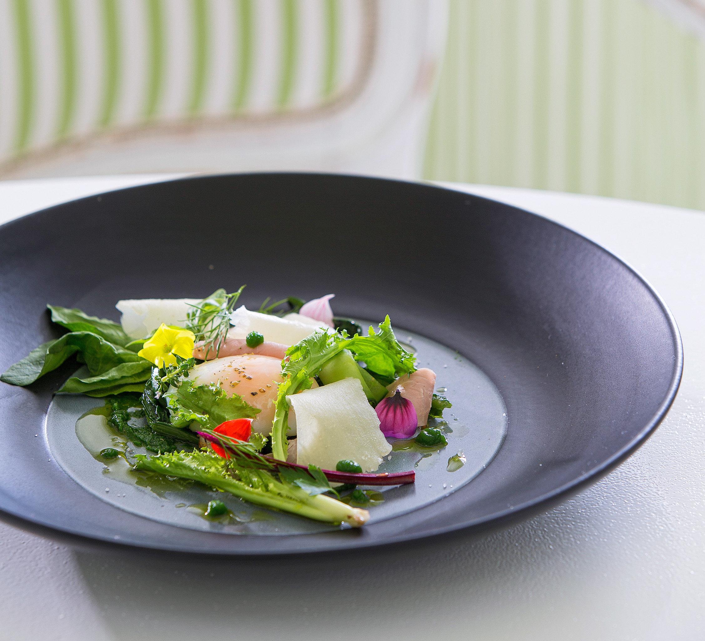 Cultural Dining Drink Eat Elegant plate food salad vegetable black flowering plant