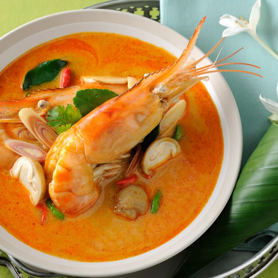 Cultural Dining Drink Eat Jungle Tropical food plate soup bowl bouillabaisse noodle soup cuisine fish Seafood thai food laksa curry red curry asian food shrimp containing
