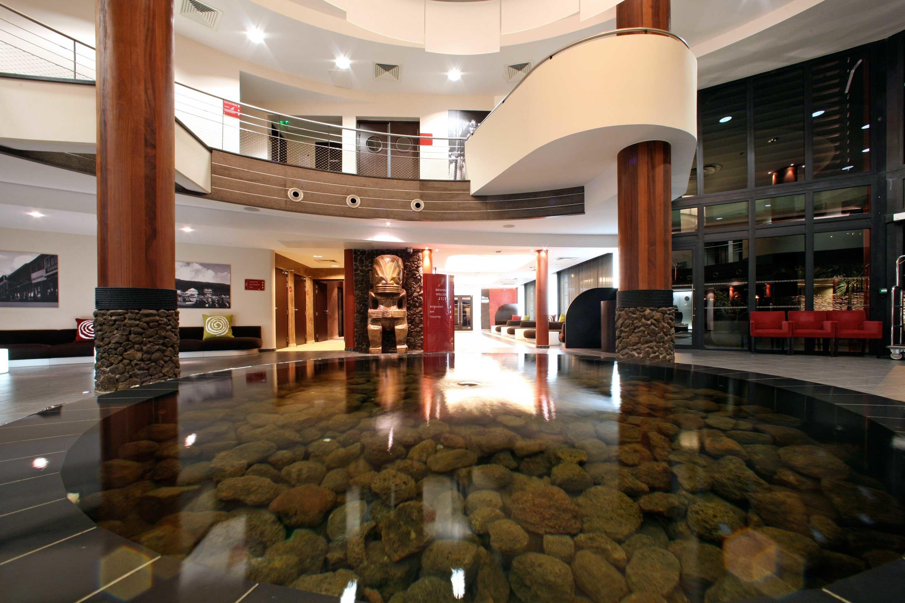 Cultural Eco Lobby Modern building shopping mall retail flooring stone