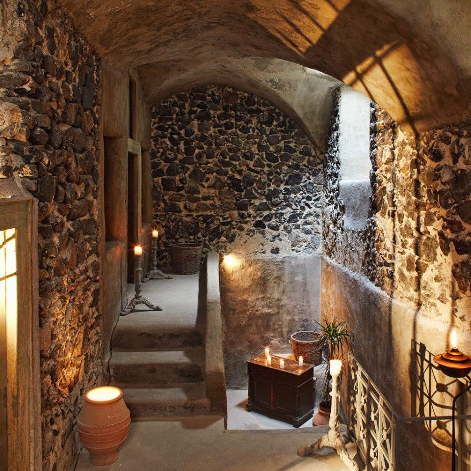 Cultural Elegant Historic Fireplace stone lighting Winery ancient history basement