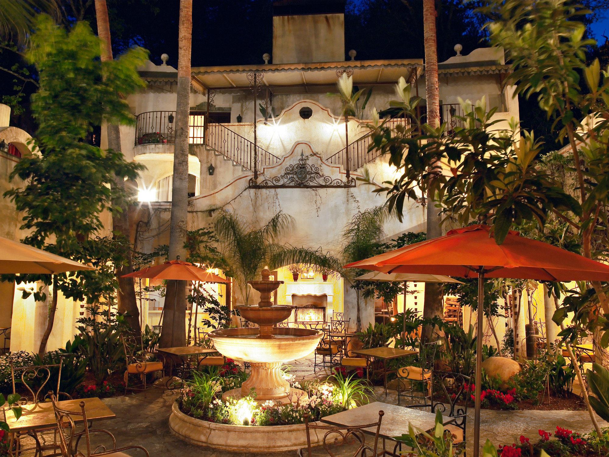 Cultural Exterior Grounds Patio tree building Resort restaurant lighting plant Garden