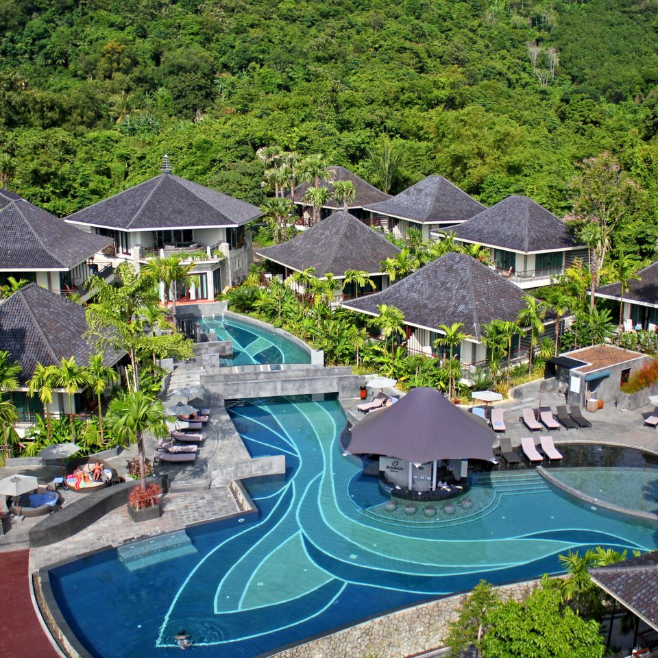 Cultural Exterior Grounds Jungle Pool Tropical Villa tree leisure Resort swimming pool Town residential area Village park amusement park mansion Garden