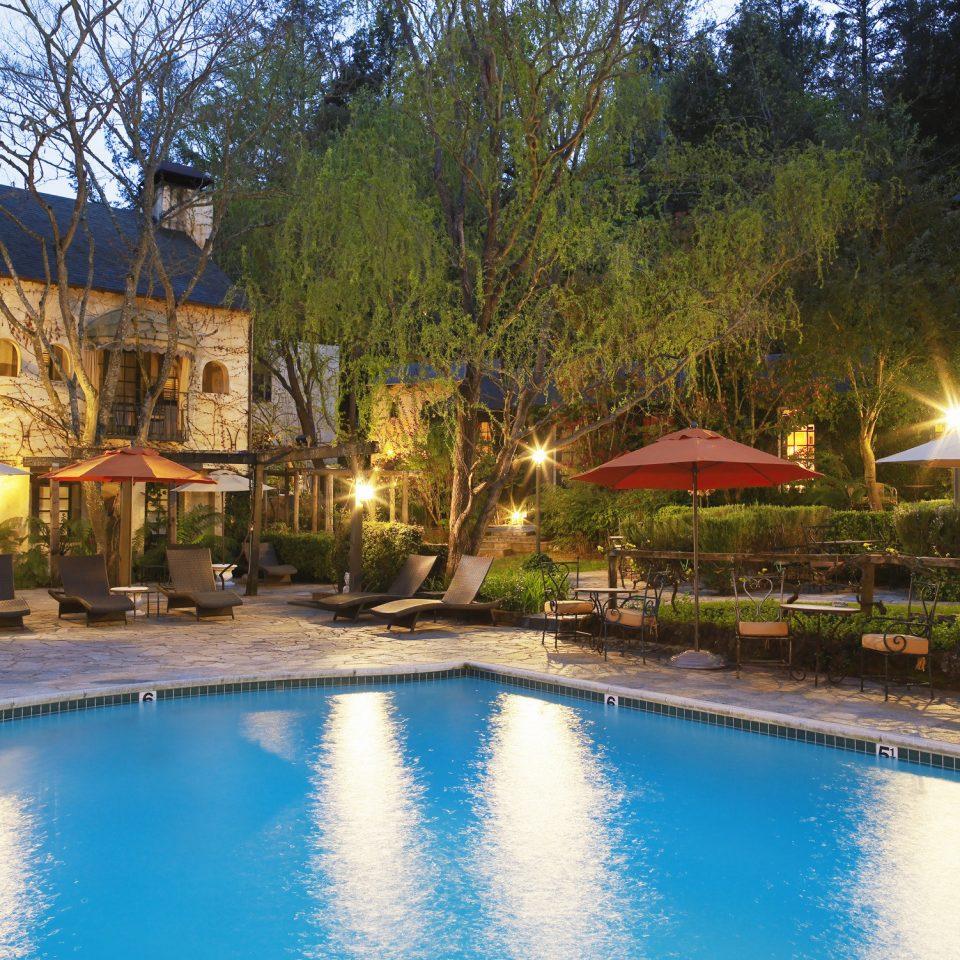 Cultural Exterior Pool tree water swimming pool property leisure Resort Nature pond resort town Villa backyard