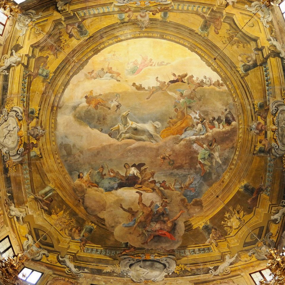 Cultural Historic Luxury Romance building ancient history dome basilica art ancient rome yellow old cathedral place of worship baptistery carving