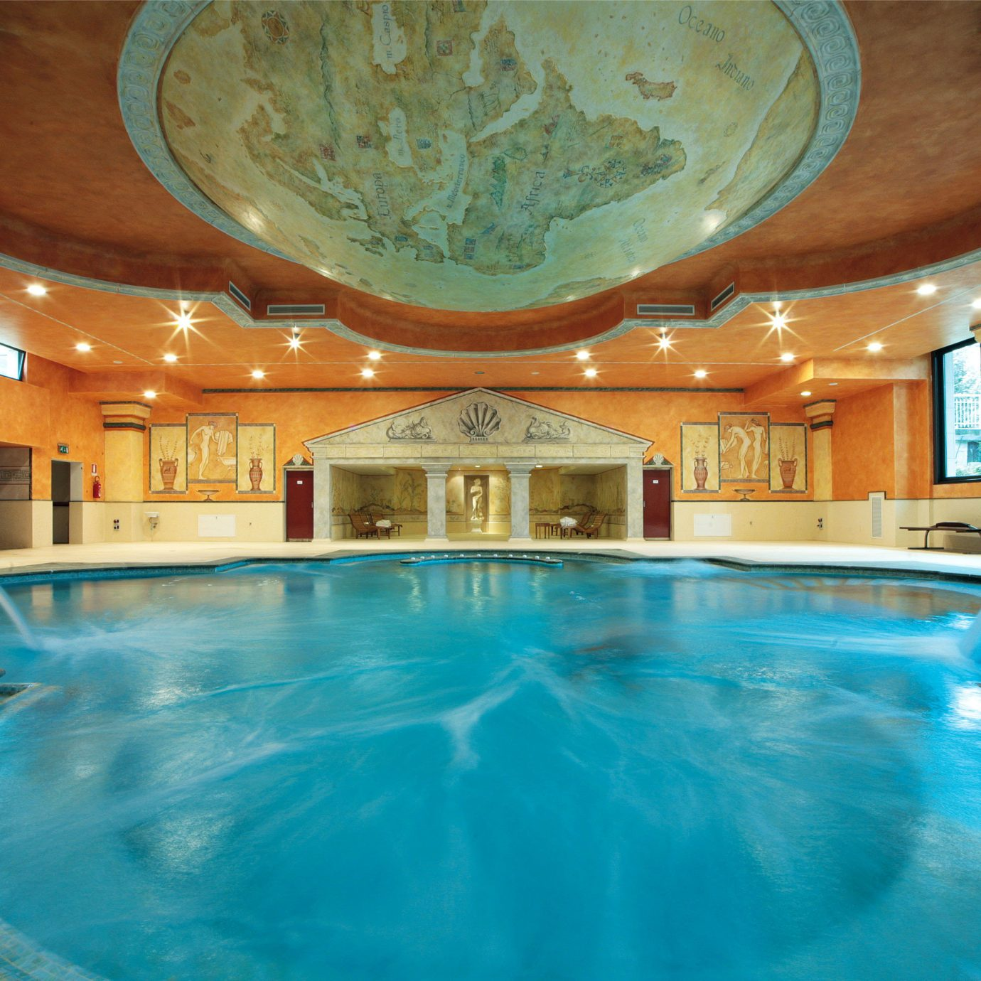 Cultural Play Pool Wellness swimming pool property Resort building blue leisure centre jacuzzi mansion thermae swimming