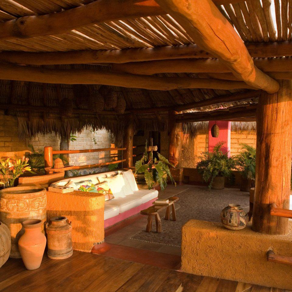 Cultural Rustic Resort home log cabin living room hacienda restaurant cottage Villa