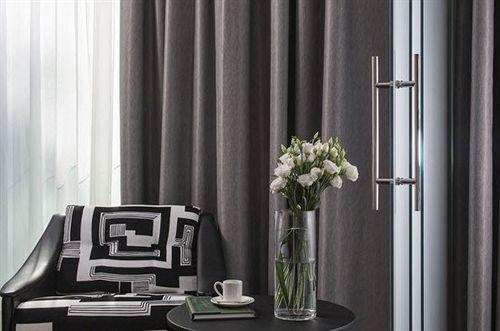 curtain window treatment textile decor material living room set