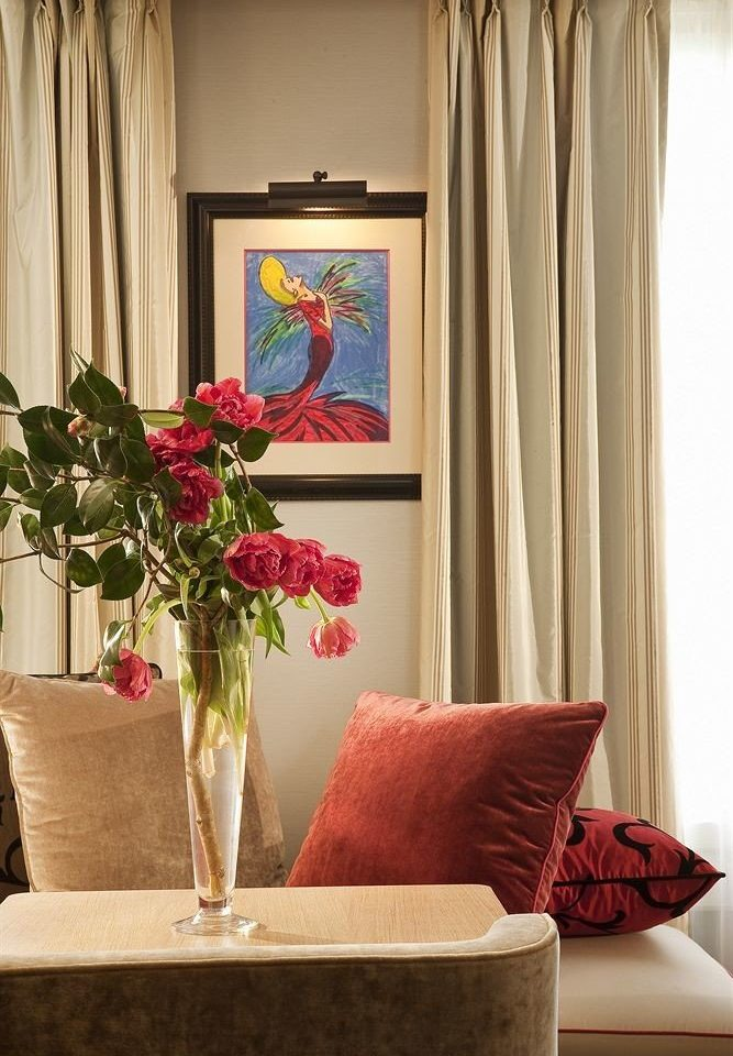 curtain red flower living room window treatment textile