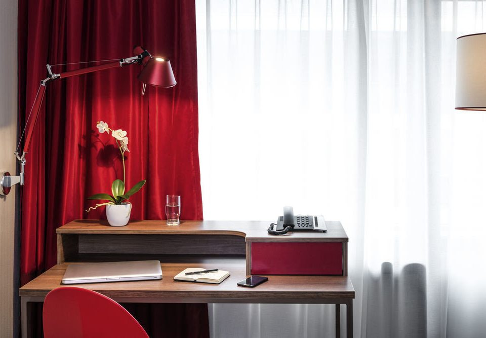 curtain red lighting window treatment