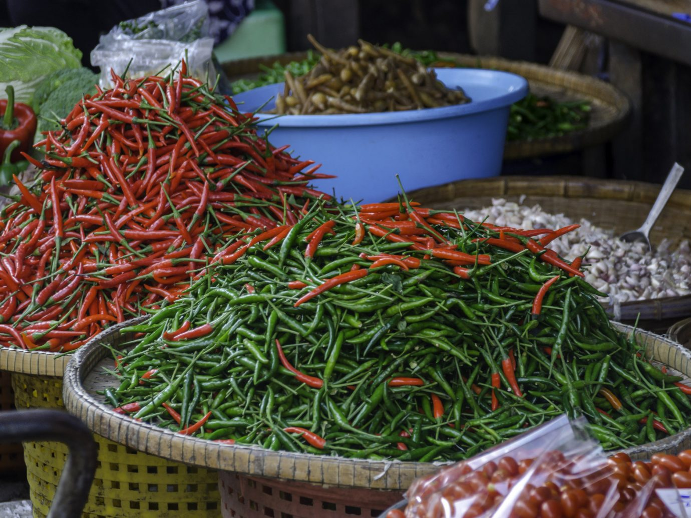 Food + Drink food market City public space plant human settlement produce vegetable pepper leaf hot pepper flower herb crop chili pepper fresh meal meat