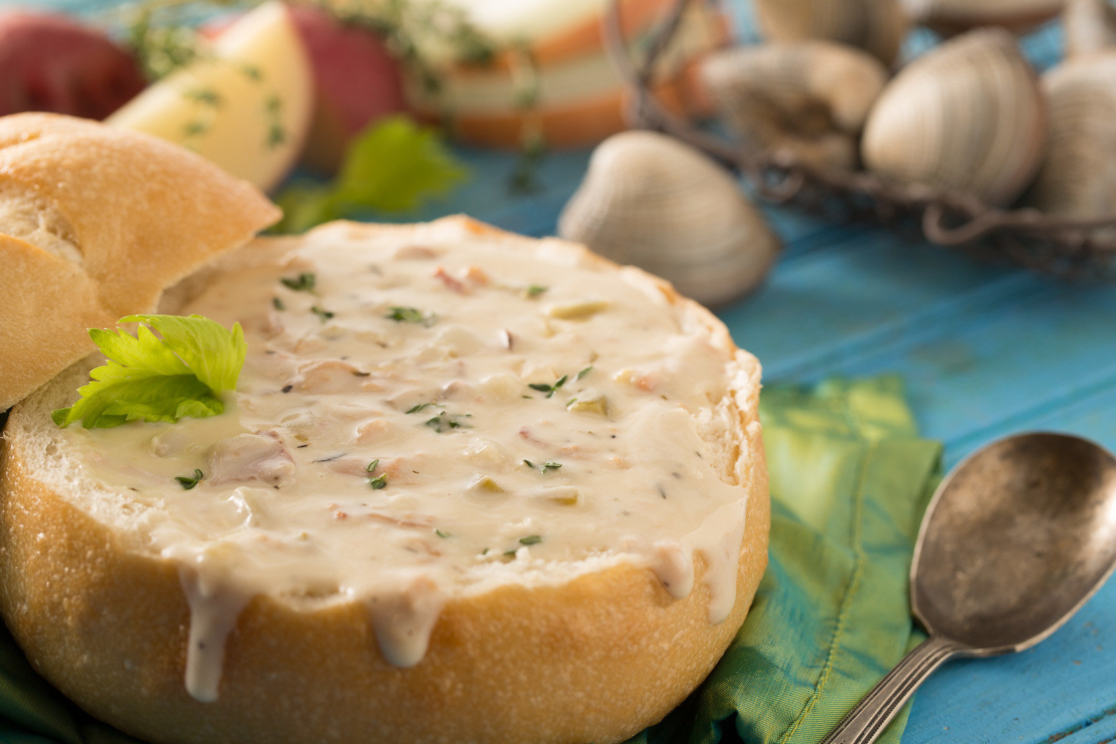 chowder Dining Eat food Food + Drink Seafood soup Trip Ideas indoor dish meal breakfast produce cuisine meat